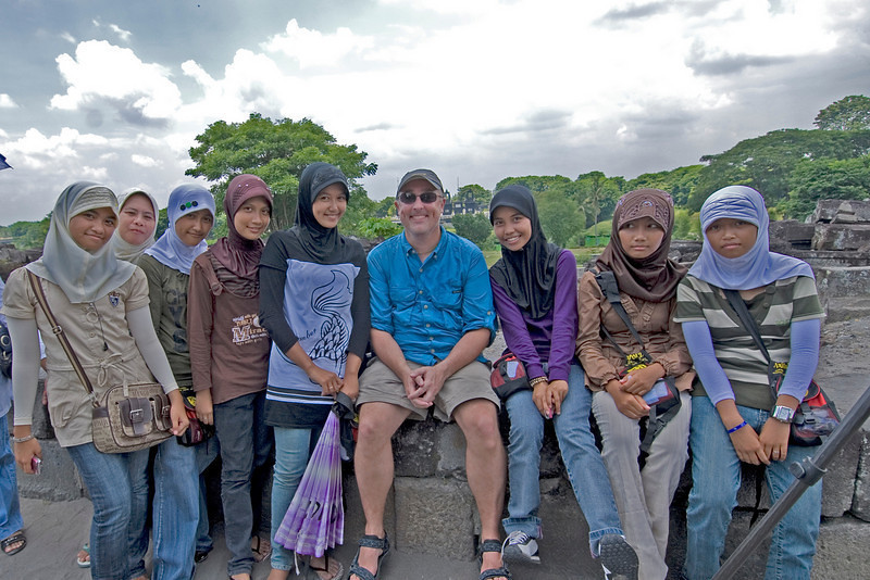 Gary with locals in his travels.