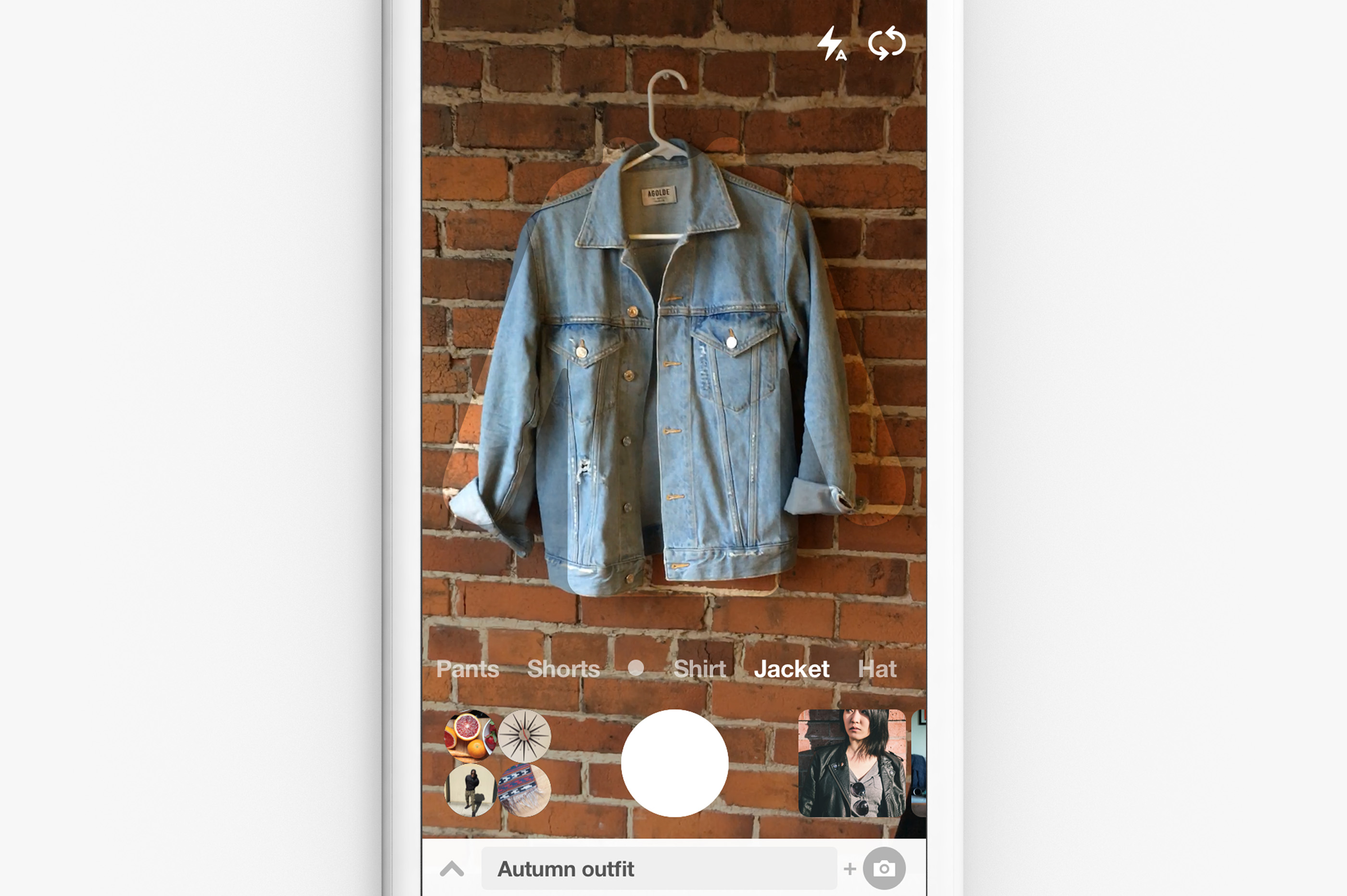 Lens your look on Pinterest app.