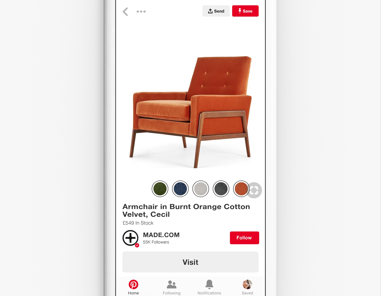Social Shopping platform:  Pinterest