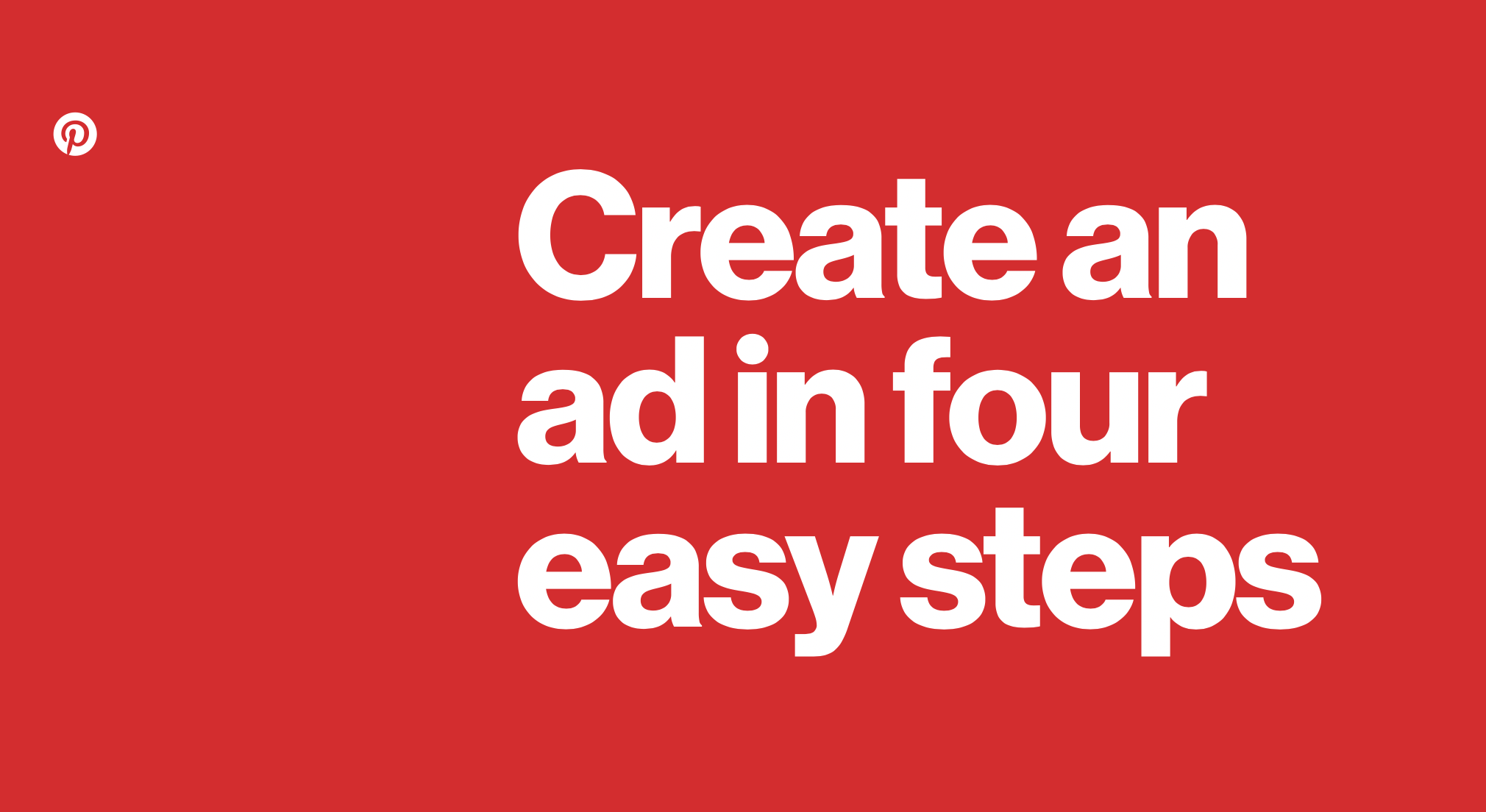 Image saying Create and ad in four easy steps