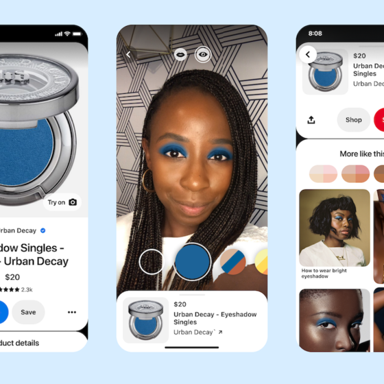 Pinterest launches AR Try on for eyeshadow