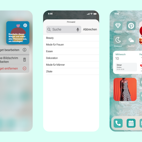 iOS 14 Pinterest Widget